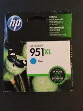 Genuine HP 951XL Printer Ink Cartridge, Cyan (CN046AN) NEW OEM 2017-2019