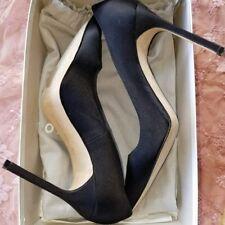 Authentic Manolo Blahnik BB Pump Black Satin size 9 or euro 40 box and dust bag