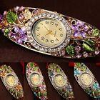 femmes femme cristal coloré fleur bracelet montre analogique quartz Proper