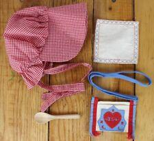 "American Girl KIRSTEN Spoon Bag Bonnet Hankie Meet for 18"" Doll AG PC Tag"