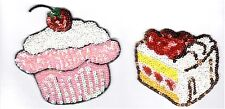 Sequin Patch: Afternoon Tea Pastries  Cupcake and Slice of Cake