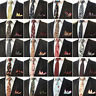 Men Cotton Paisley Flower Tie Handkerchief Necktie Pocket Square Set Lot NEW