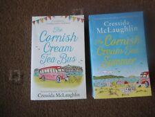 CRESSIDA McLAUGHLIN 2 x PB Book CORNISH CREAM TEA SUMMER &  CREAM TEA  BUS  VGC