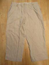 ALEXANDRA BARTLETT Women's Beige 100% Linen Capri Pants Size X (14/16)
