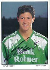 Claudio Besio   FC  ST.Gallen  Fußball Autogrammkarte signiert 375339