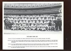 1970 Through 1974 New York Jets NFL Football Team Photos 5 Different NM