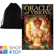 ORACLE OF VISIONS CARDS DECK CIRO MARCHETTI ESOTERIC ASTROLOGY WITH VELVET BAG