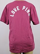 NWT Victoria's Secret PINK  GRAPHIC  SHORT SLEEVE SHIRT LARGE +E615
