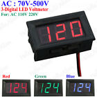 AC70V-500V 3 Digital LED Volt Voltage Meter Voltmeter Panel AC110V AC220 AC380V