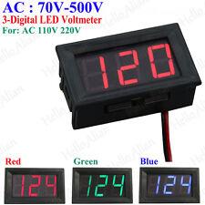 AC70V-500V 3 Digital 2 Wire LED AC Voltage Meter Voltmeter AC110V 220V 230V 380V