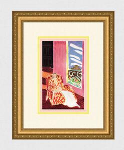 "Attractive Henri MATISSE 1945 Antique Print ""The Black Door"" Framed Signed COA"