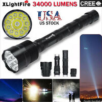 XLightFire 34000 Lumens 14x T6 LED 5 Mode 18650 Flashlight Torch Lamp USPS