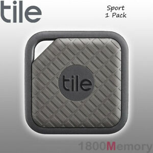 GENUINE Tile Sport Bluetooth Tracker 1 Pack with Replaceable Battery Black