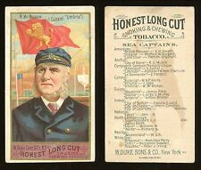 "1887 N127 Duke Sea Captains ""W. McMickan"" FAIR/GOOD **AA7756**"