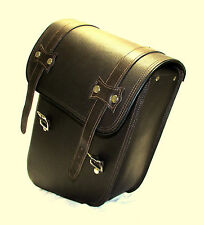 Brown LEATHER DYNA MOTORCYCLE SIDEBAG  SOLO BAG FOR HARLEY DAVIDSON DYNA
