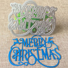 Merry Christmas Letters DIY Scrapbook Album Paper Carft Embossing Cutting Die S