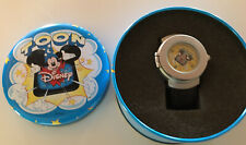 Vintage Toon Disney 3D Pop-Up Watch Mickey Mouse Sorcerer Leather Band W/ Case