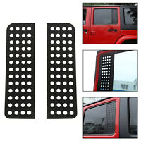 Rear Door Triangular Window Glass Plate Cover Fits  Wrangler JK 2007-17 4Door A5