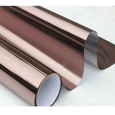 Brown&silver Window Tint Glass Sticker 20''x118'' Mirror Reflective Film