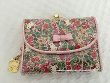 New Rare Sanrio Hello Kitty Liberty London Strawberry Pink Clasp Wallet