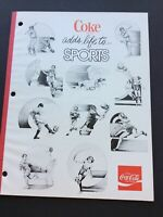 VINTAGE COCA-COLA 1970's COKE ADDS LIFE TO SPORTS 3 RING NOTE BOOK PAPER UNUSED