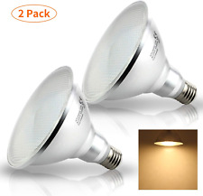 2 Packs 12W E27 PAR38 LED Bulb Spot Light, 900 Lumen Warm White ES Floodlight,