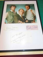 signed autographs of the Professionals, mounted and framed..