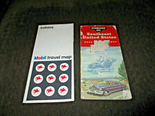 New ListingMobil & Standard Oil~Travel Maps~Lot of 2~Pre-Owned