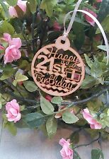 Happy 21st  Birthday Wooden Gift Tag