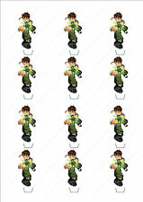 Novelty Ben 10 Stand Up Fairy Cake Cupcake Toppers Edible Wafer Birthday Boys
