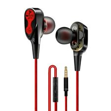 High Bass Headsets Sports Earphones Dual Drive Stereo In-Ear Wired Earphone