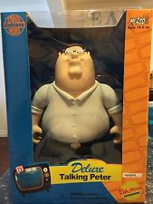 """FAMILY GUY DELUXE TALKING PETER GRIFFIN 18"""" TOY DOLL FIGURE MEZCO NIB SEALED"""