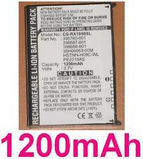 Batteria 1200mAh tipo 35H00063-00M HSTNN-H09C-WL PE2018AS per HP iPAQ rx1950