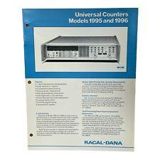 RACAL-DANA MODELS 1995 & 1996 UNIVERSAL COUNTERS TECHNICAL DATA SHEET