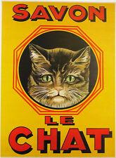 AFFICHE POSTER CARTONNE DE FRANCE SAVON LE CHAT CAT GATTO GATO