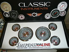 classic instruments silver series ss 6 guage set fl