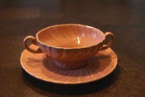 Vintage Gladding McBean Tea Cup & and Saucer Cream Soup Bowl Plate Coronado USA
