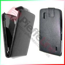 funda eco PIEL negro para LG ELECTRÓNICA E960 NEXUS 4 tapa caja de protección