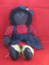 "Raggedy Ann 22"" African American (Black Americana) Unicorn"