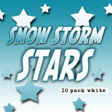 White STARS SNOWSTORM IN CHINA Magic Paper Confetti Tablets Snow 10 Load Set