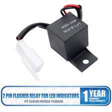 2 Pin Motorcycle LED Wired Turn Signal Light Flasher Relay For Kawasaki Yamaha