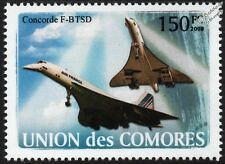 Air France CONCORDE F-BTSD Airliner Aircraft Stamp (2008 Comoros)