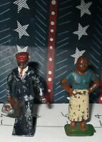 RARE LINCOLN LOGS LEAD FIGURES PORTER/ BELLHOP & COOK Xmas Special 50% OFF