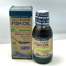 Wiley's Finest Wild Alaskan Fish Oil Dietary Supplement 2140 MG DHA (4.23oz)2022