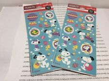 EASTER HALLMARK SNOOPY STICKERS NEW SEALED PLASTIC 2 PACKAGES-60 STICKERS
