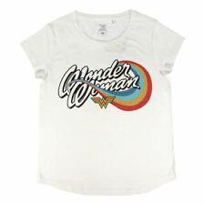 Women's DC Wonder Woman Rainbow Logo White T-Shirt