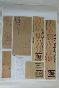 stamps  pre-paid postage embossed on envelopes mainly UK