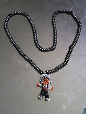 Hand Made Native American Indian Doll Pendant Seed Bead Necklace Kachina