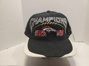 Vintage Pro Line Denver Broncos 1997 AFC Champions Snapback Cap Hat Black NWT