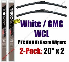 Wiper Blades 2-Pack Premium - fit 1991-1993 White GMC WCL - 19200x2